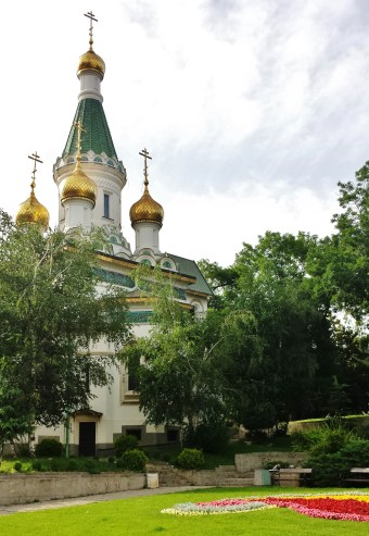 Russian Church of St. Nikolai from across its lawn