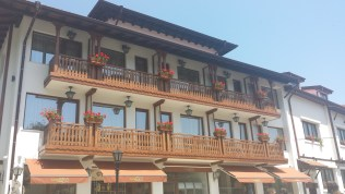 Balconies with Windowboxes in Tryavna