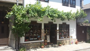 Crafts Shop with Leafy Decorations in Tryavna