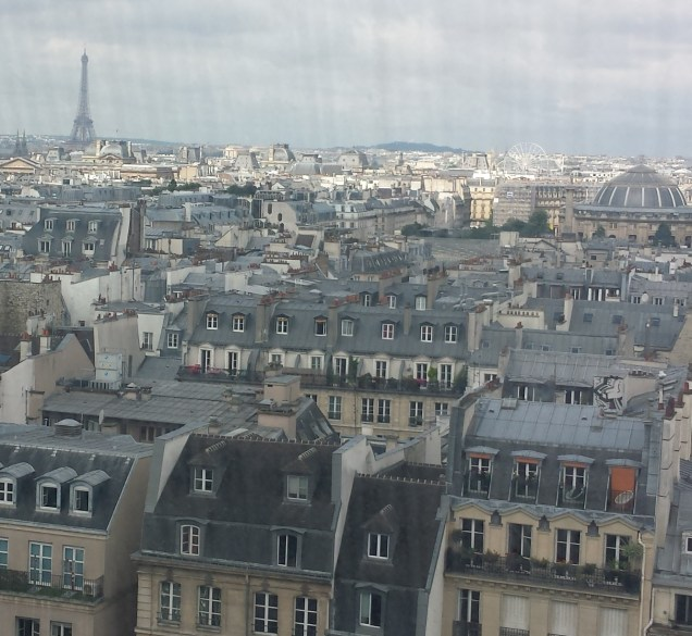 Eiffel Tower and Paris from Centre Pompidou