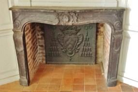 Fireplace in Rouen Archbishop Palace
