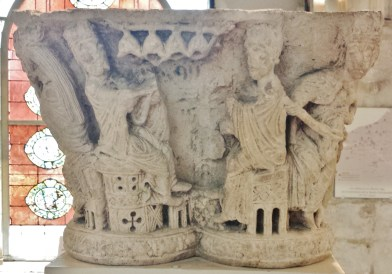 Rouen Antiquities Museum 12th Century Capital with Musicians 3
