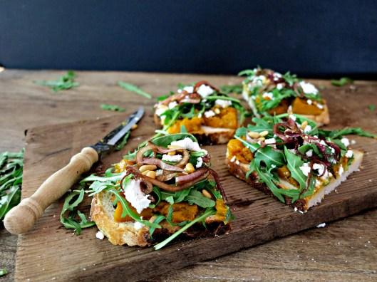 Open Roast Pumpkin Sandwich
