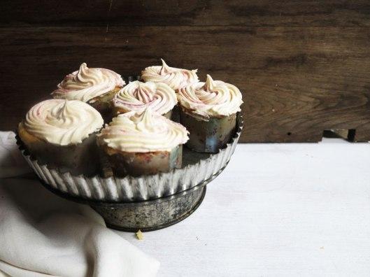 Fluffy Cupcakes with Raspberry Swirl Buttercream