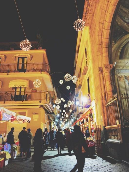 magical Sorrento streets at night