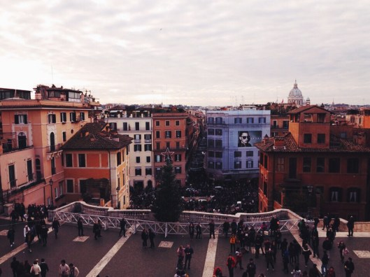 Spanish steps Rome view