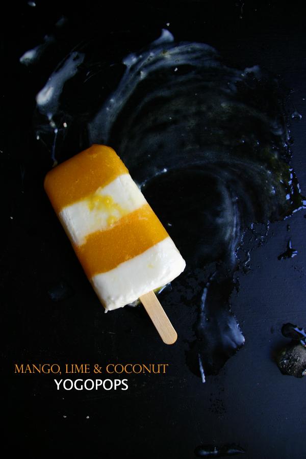 mango, lime & coconut yogopops