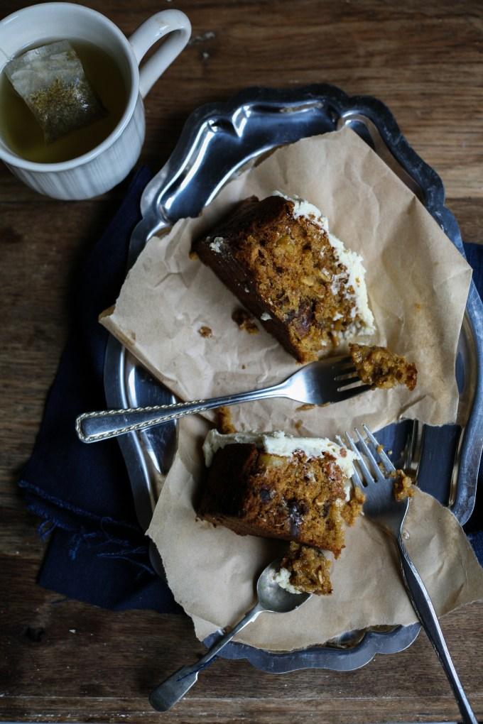 Chamomile Honey Oat Cake