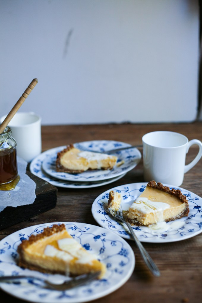 Lemon & Honey Anzac Tart