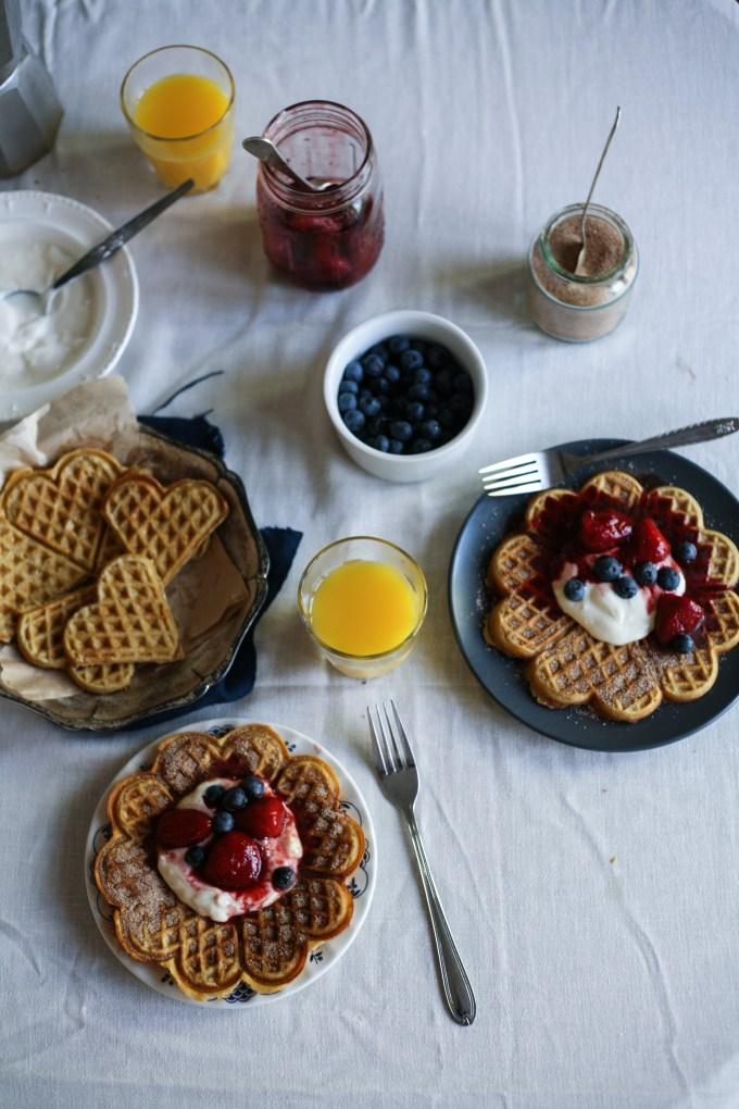 Cinnamon Oat Breakfast Waffles