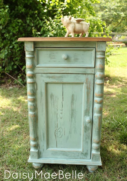 Annie Sloan Duck Egg Blue Side Table @ DaisyMaeBelle