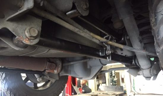09+ Dodge Ram 1500 with worn out rear 4-link bushings.
