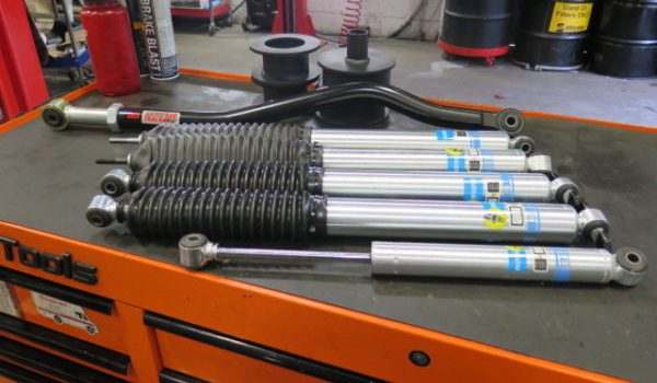 """Jeep JK in for Bilstein 5100 shocks, 2"""" Level off Kit and Steering at Dales Auto Service"""