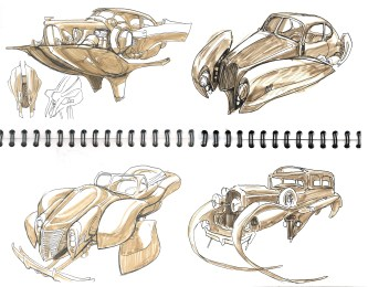 Vehicle sketches for Nitrate Films
