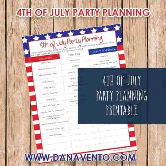 4th Of July Party Planning Printable