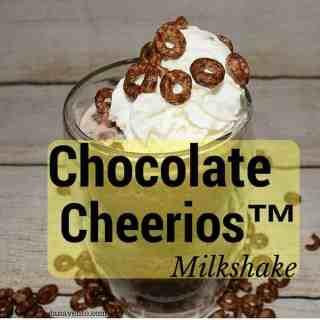 chocolate cheerios, milkshake, chocolate cheerios milkshake recipe, recipes, food, foodies, food cheerios, summer, cool, fast, simple, summer recipe, summer beverage, ice, milk, chocolate syrup, chocolate chips, dana cooks