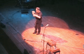 Michel Waisvisz Performance with HANDS