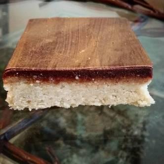 Chocolate Glazed Almond Shortbread, to keep the Zen Brownies company