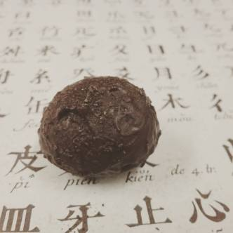 """DELICATE TEA (PERSIMMON BLOSSOM) - Rare Chinese """"Persimmon Blossom"""" black tea in earthy Liona 70% dark chocolate. Alice of Red Blossom Tea Co. thought this tea was too delicate for chocolate, but I did it anyway"""