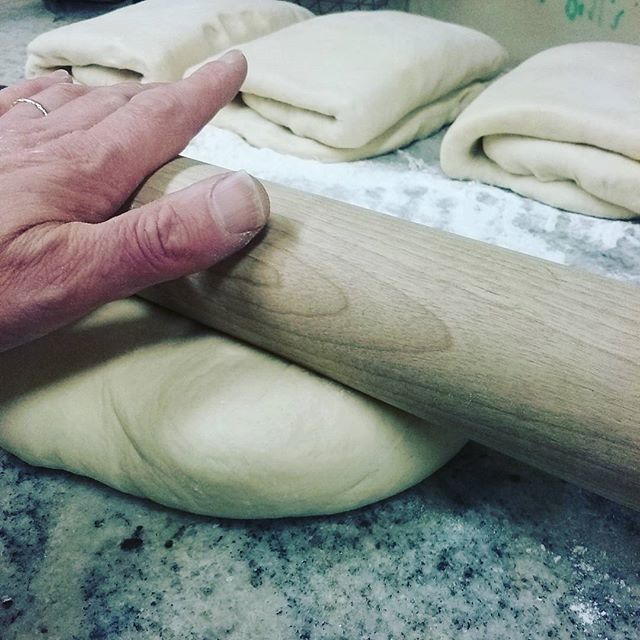 THE SECOND FOLD for this weekend's Croissants. Traditional, Chocolate, Almond, and Chocolate Almond. #dlccafe #nhfood #manchestereatsnh #croissants