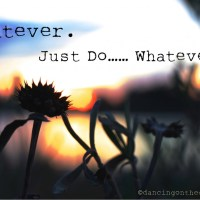 Whatever.  Just Do....WHATEVER.