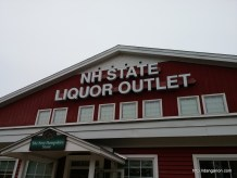 Can't miss the no tax Liquor Outlet while driving through New Hampshire!