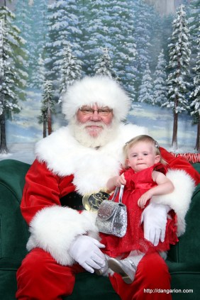 Abby's picture with Santa 2014.