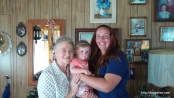 Kelly, Abby, and Great Grandma Ivalou