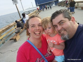 Family Selfie on the Newport Pier.