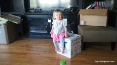 Abby helping pack.