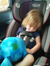 Pooped from our fun at the Evergreen Aerospace Museum in McMinnville, Oregon.
