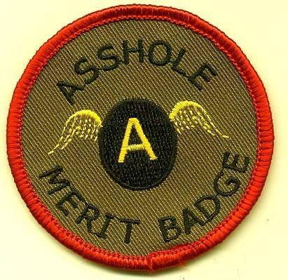 asshole-merit-badge