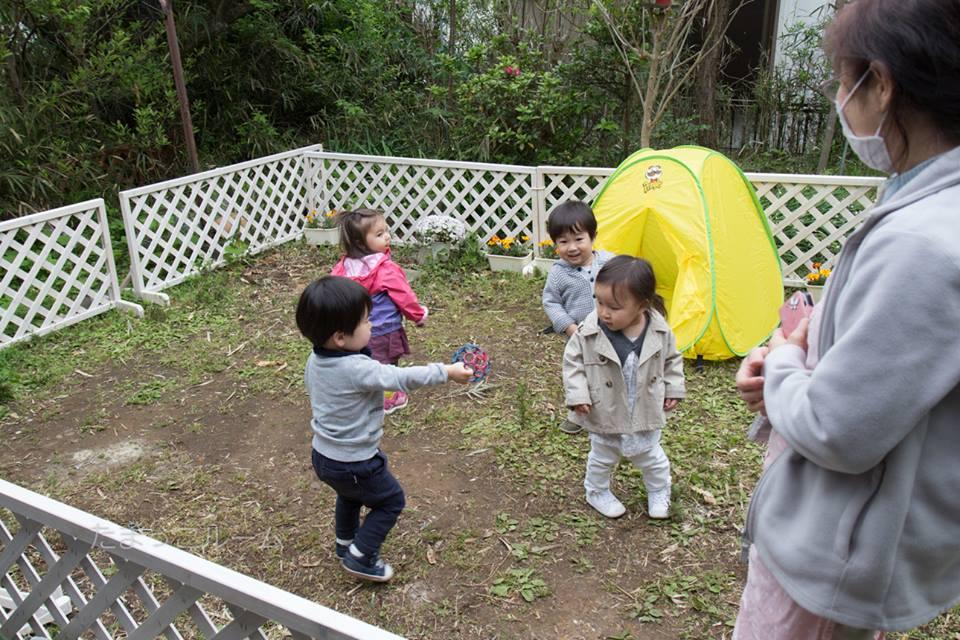 プチ園庭お披露目~鎌倉一時保育日誌