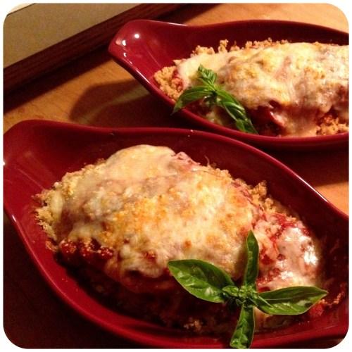 Medium Of Grilled Chicken Parmesan