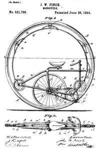 Monocycle patent - drawing