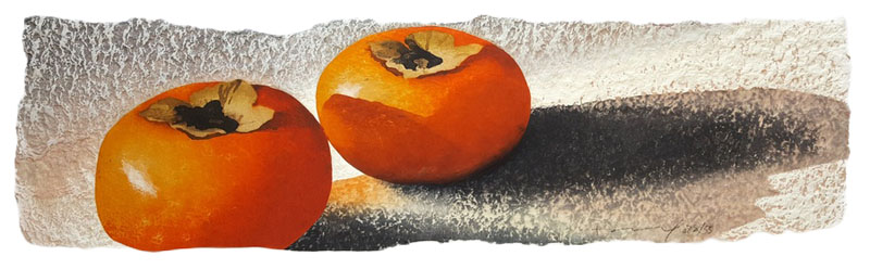 Three Persimmons, 2016.