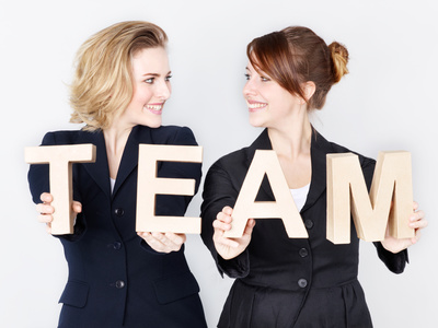 Two business women as a team