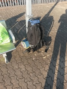 Leaving Ninian Park train station.