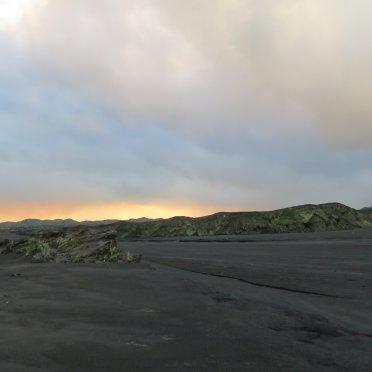 瓦努阿圖Ambrym火山灰平原黃昏