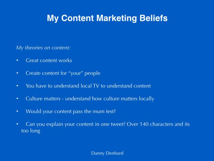 content marketing beliefs