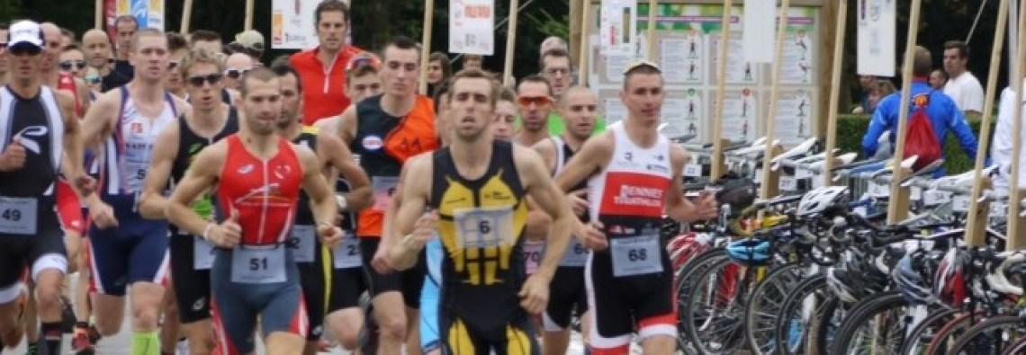The start at the Olhain duathlon