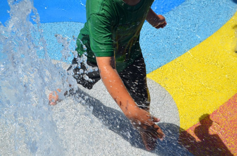 LEvi Playing in the water at LegoLand