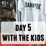 Day 5 with the kids – My son wearing make up