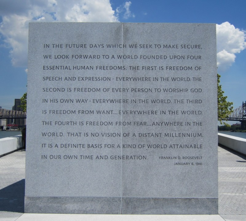 Four-Freedoms-Park-Roosevelt-Island-FDR-text