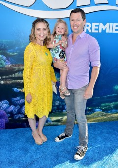 HOLLYWOOD, CA - JUNE 08: (L-R) Actress Beverley Mitchell, Kenzie Cameron and Michael Cameron attend The World Premiere of Disney-Pixar's FINDING DORY on Wednesday, June 8, 2016 in Hollywood, California. (Photo by Alberto E. Rodriguez/Getty Images for Disney) *** Local Caption *** Beverley Mitchell; Kenzie Cameron; Michael Cameron
