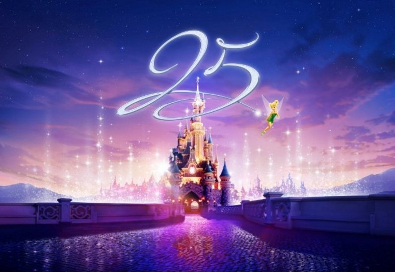 Disneyland Paris Announces 25th Anniversary Including Hyperspace Mountain and New Night Show