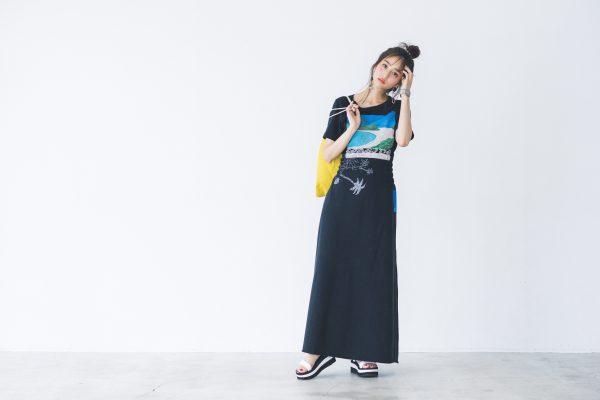 素材感と小物合わせがカギ☆夏のオールブラックコーデ7選