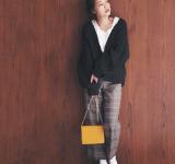 【今日のコーデ】ざっくりカーデを色っぽく♡ヒール靴で仕上げるボーイッシュコーデ
