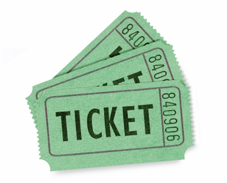 Admission or raffle tickets