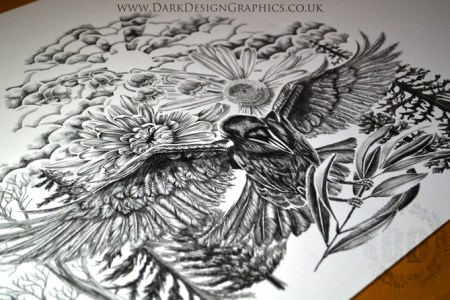 how i create a tattoo raven tattoo design
